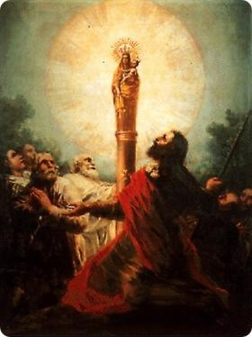 Aparición de Nuestra Señora del Pilar al Apóstol Santiago[12]