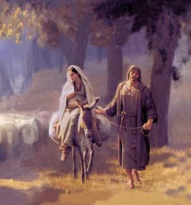 Joseph 4 going to Bethlehem_painting