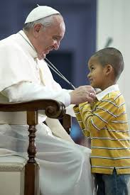 Pope Francis & little boy