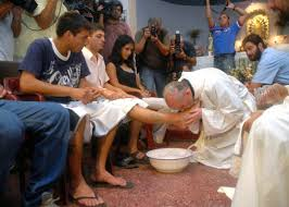 Washing of the feet 04 Pope Francis
